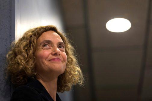 La ministra de Política Territorial en funciones y candidata a presidir el Congreso, Meritxell Batet, en un acto electoral celebrado el sábado en Figueres (Gerona)