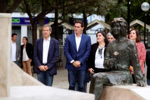 Albert Rivera, en el homenaje por el atentado de la Casa Cuartel de Zaragoza