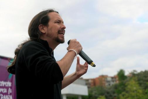 Pablo Iglesias, en un acto de Podemos en Alcorcón (Madrid)