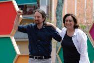 Barcelona, 11 de Mayo de 2019 Mitin de campaña para las elecciones municipales en el distrito de Nou Barris de Barcelona de Ada <HIT>Colau</HIT>, que ha estado acompañada por Pablo Iglesias, Lucia Martin, Janet Sanz y Cristina Fallarás.