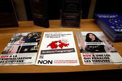 Papeletas de la consulta de hoy en Suiza sobre el uso de armas.