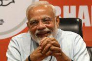 El líder del partido Bhartya Janta y primer ministro indio, Narendra Modi.