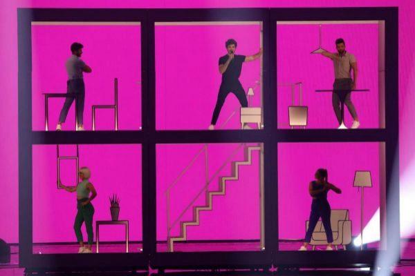 Miki, durante su actuación en Eurovisión.