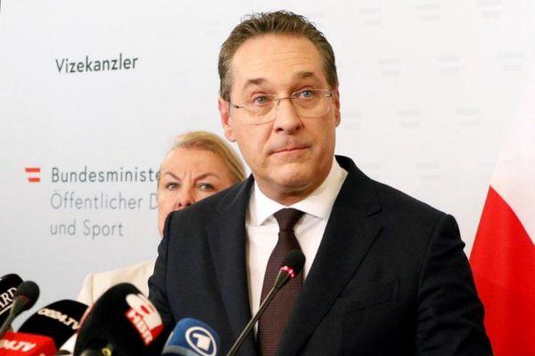 El recién dimitido vicecanciller de Austria y líder de los ultranacionalistas, Heinz-Christian Strache.