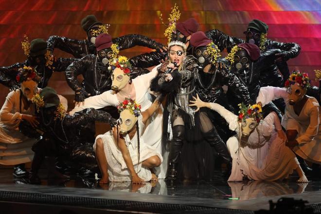 Madonna, durante su actuación en el festival.