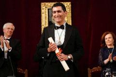 Juan Mayorga toma posesión de su plaza como académico de la RAE.