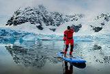 Paddle surf en la Antártida.