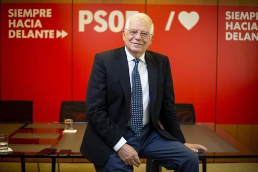 El candidato del PSOE a las europeas, Josep Borrell.