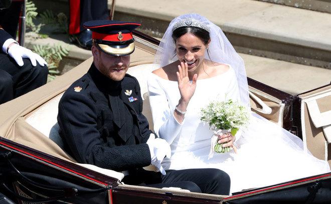 003d0737a Meghan y Harry el día de su boda el 19 de mayo de 2918 en la