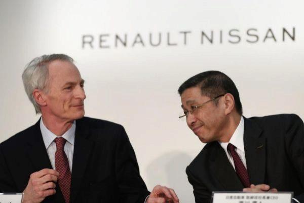Senard (Renault) y Saikawa (Nissan) en una imagen de marzo.