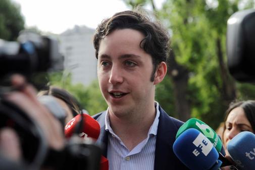 Francisco Nicolás Gómez Iglesias, el 'pequeño Nicólas', este lunes a su llegada a la Audiencia Provincial de Madrid.
