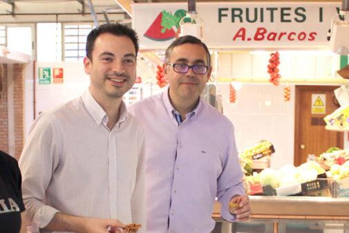 El alcalde Ximo Huguet (izq.) y el teniente alcalde, Ángel Badenas, ambos del PSPV hasta ahora.