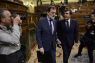 Mariano Rajoy y José Luis Ayllón, en el Congreso el pasado mayo.