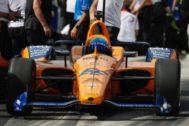 Alonso, antes de la última repesca en Indianápolis.