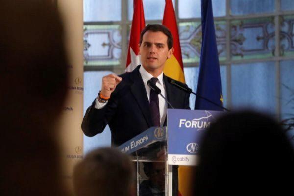 Albert Rivera, en un acto celebrado este lunes en Madrid.