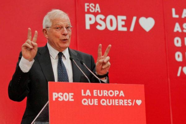 Josep Borrell, en un acto electoral en Oviedo el sábado.