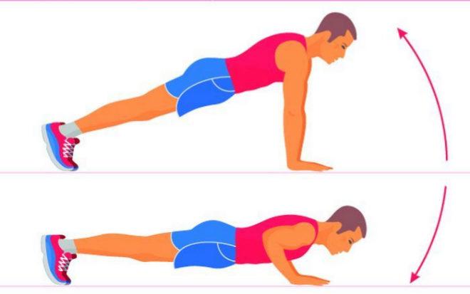 flexiones y abdominales en casa