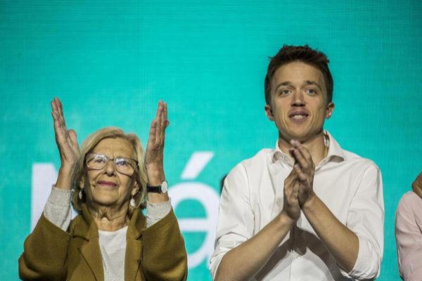 Acto político del partido Mas Madrid en el Madrid Arena. Con Manuela...