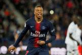 Mbappé celebra un gol del PSG.