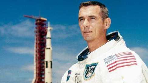 El astronauta Eugene Cernan.