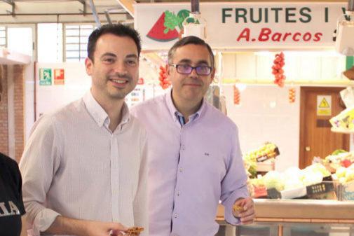 Ximo Huguet, alcalde de Onda, y el teniente alcalde cesado, Ángel Badenas.