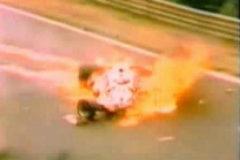 Momento del accidente de Lauda.