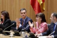 Pedro Sánchez, en la reunión del Grupo Socialista en el Congreso.