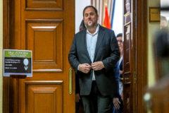 El diputado de ERC y preso por el 1-O, Oriol Junqueras, en el Congreso