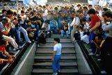 Maradona en su presentación en el Nápoles el 4 de julio de 1984.