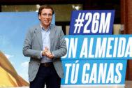 José Luis Martínez-Almeida, en un acto electoral.