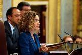 Meritxell Batet, presidenta del Congreso, durante la sesión constitutiva de las nuevas Cortes.