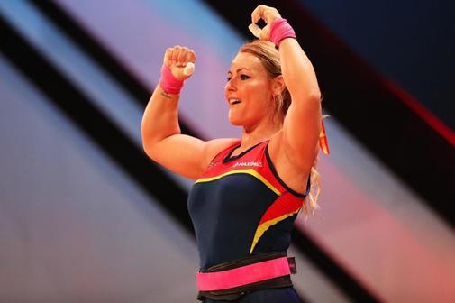 Lydia Valentín, durante el reciente Campeonatos de Europa de Halterofilia.