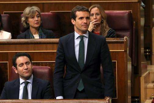 Pablo Casado, en la sesión del Congreso para constituir las cámaras