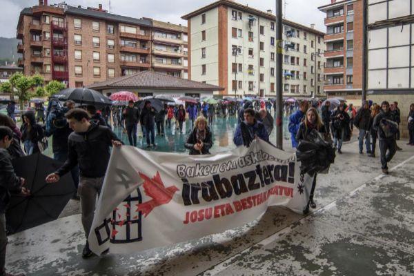 Manifestación en apoto a 'Josu Ternera'
