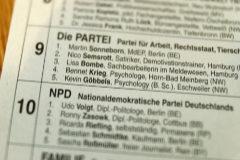 Extracto de la lista de candidatos del Die Partei alemán.