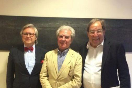Javier Jiménez, César Antonio Molina y Francesc de Carreras en la presentación el libro 'Las democracias suicidas'
