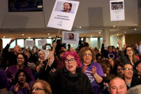 Acto de Podem en Sant Feliu de Llobregat hace dos años con la presencia de Pablo Iglesias