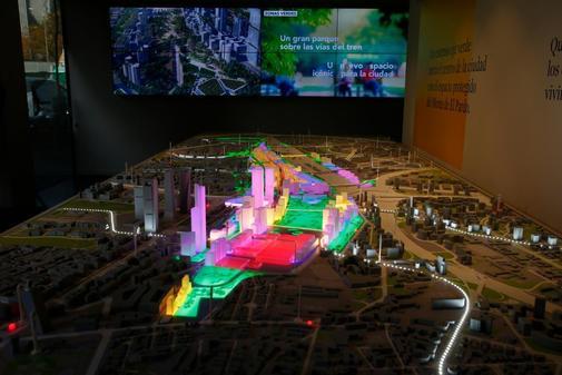 La maqueta del proyecto Madrid Nuevo Norte.