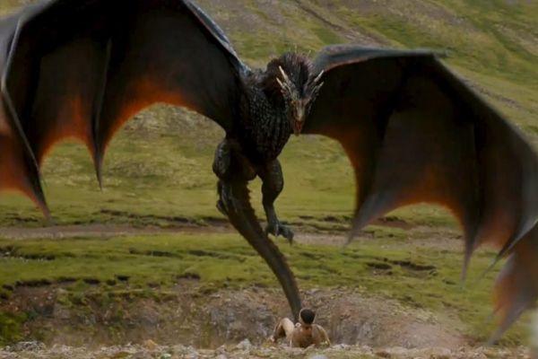 El dragón de 'Juego de Tronos', en un fotograma de la serie.