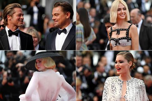 Brad Pitt y Di Caprio revolucionan el festival