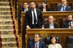 Pedro Sánchez y Santiago Abascal, en la sesión del Congreso