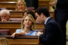 Álvarez de Toledo y García Egea, durante la sesión constituida del Congreso.