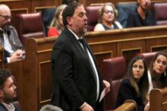 """Junqueras jura como """"preso político"""" y Rivera exige que Batet intervenga"""