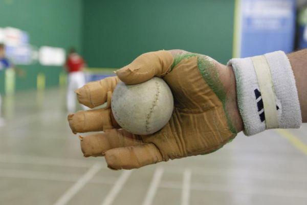 Foto de archivo de una competición de pelota vasca.