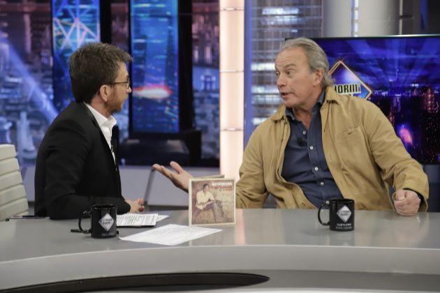 """Pablo Motos y Bertín Osborne en El Hormiguero en Antena 3, programa por el que el invitado ha recibido críticas tras decir """"solo bebo vino español, dejaos de mariconadas"""""""