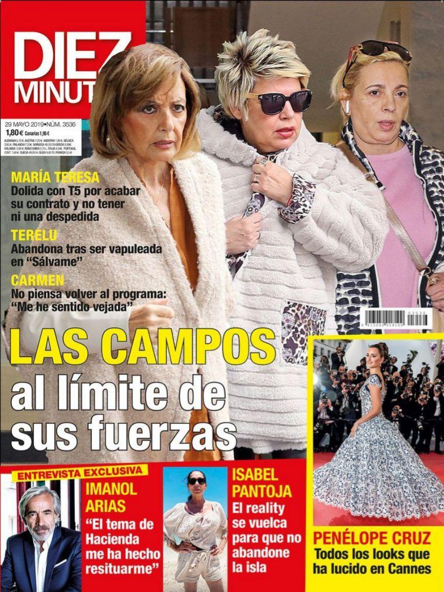 La revista Diez Minutos lleva en portada a las Campos. María...