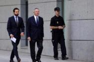 Alberto Ruiz-Gallardón, al declarar en la Audiencia Nacional por el 'caso Lezo' el pasado junio.