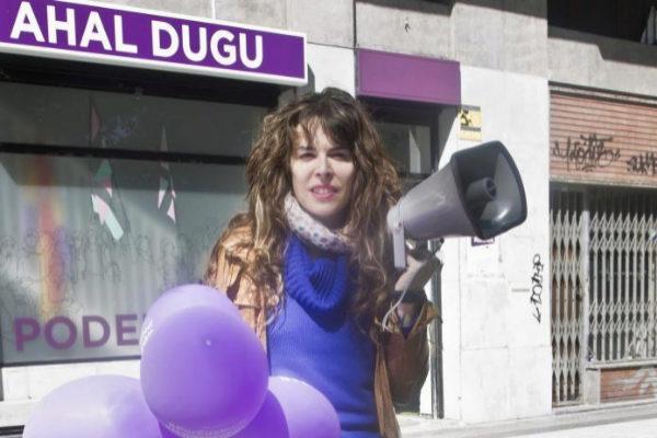 Aitzole Araneta, candidata de Elkarerekin Podemos en San Sebastián.