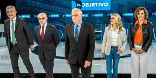 Cinco de los candidatos a las elecciones europeas