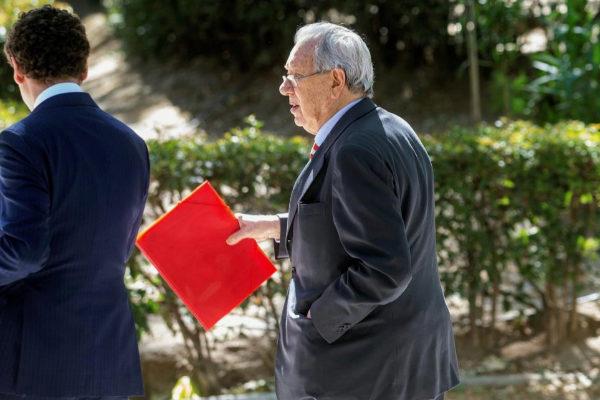 Raúl Morodo, ex embajador en Venezuela, a su salida de la Audiencia...